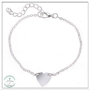 """🌸3 FOR $15🌸Heart Alloy Anklet   Size: 9"""" to 12"""""""